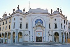 El Palazzo histórico del Cinema, di Venezia, Italia de Lido Foto de archivo