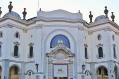 El Palazzo histórico del Cinema, di Venezia, Italia de Lido Fotos de archivo