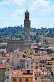 El Palazzo Vecchio con su torre en el della Signoria de la plaza en Florencia fotografía de archivo libre de regalías