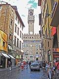 El Palazzo Vecchio en Florencia en Italia imagenes de archivo