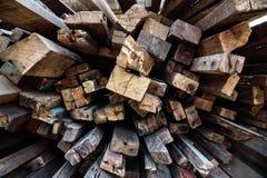El palillo de madera damanged Fotos de archivo