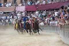 El Palio de Siena Imagen de archivo libre de regalías