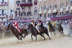 El Palio de Siena Foto de archivo libre de regalías