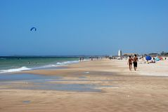 El Palmar beach, Spain. Royalty Free Stock Images