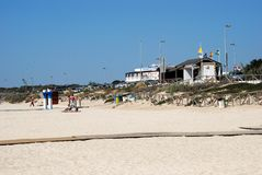 El Palmar beach, Spain. Royalty Free Stock Photography