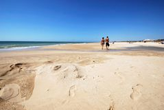 El Palmar beach, Spain. Royalty Free Stock Image