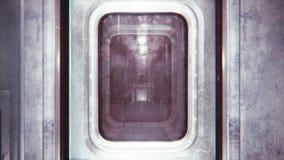 El palmo de la cámara a través del tren sin fin místico Loopable libre illustration