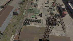 El palmo sobre el territorio de la ingeniería de planta Maquinaria abajo agrícola almacen de metraje de vídeo