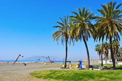 El Palo Beach in Malaga, Spain Royalty Free Stock Photo