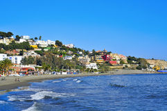 El Palo Beach in Malaga, Spain Stock Images