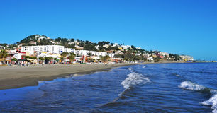 El Palo Beach in Malaga, Spain Stock Photos