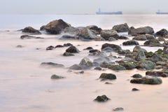 El palo del EL de la playa foto de archivo