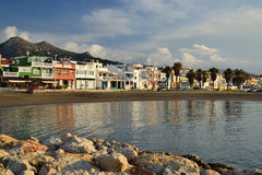 El palo del EL de la playa fotos de archivo libres de regalías