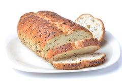 El pan del corte del pan Imagen de archivo libre de regalías
