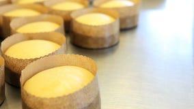 El pan dulce de pascua de los pasteles se apelmaza en el worktop, criticando almacen de video