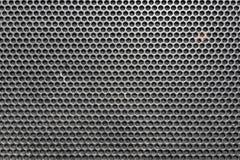 El panal del metal asó a la parrilla el modelo delante del altavoz de la música como CCB ilustración del vector