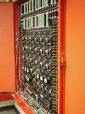 El panel análogo from 1970 la alarma de incendio Fotos de archivo libres de regalías