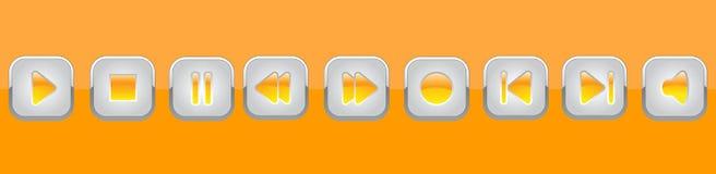 El panel anaranjado de los multimedia Imagenes de archivo