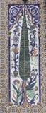 El panel con adornos florales Imágenes de archivo libres de regalías