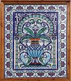 El panel con adornos florales Imagenes de archivo