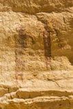 El panel de 3000 años de descoloramiento del pictograma Fotografía de archivo