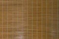 El panel de bambú Textura de madera en la pared oriental Imágenes de archivo libres de regalías