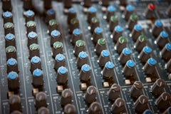 El panel de control en el estudio Fotos de archivo