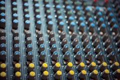 El panel de control en el estudio Fotografía de archivo