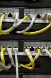El panel de corrección de Ethernet Imagenes de archivo