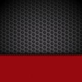 El panel de cuero rojo en paisaje negro de la malla Imágenes de archivo libres de regalías