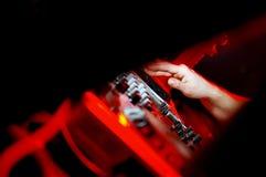 El panel de DJ Fotografía de archivo