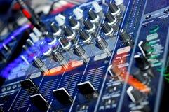 El panel de DJ Fotos de archivo