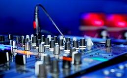 El panel de DJ Foto de archivo