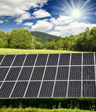 El panel de energía solar Fotos de archivo libres de regalías