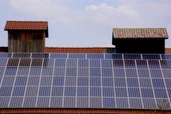 El panel de energía solar imagen de archivo