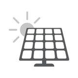 El panel de energía solar Icono plano del web libre illustration