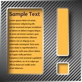 El panel de información con un signo de exclamación Imagen de archivo