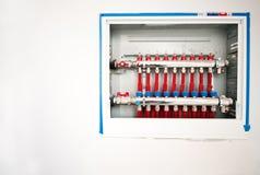El panel de la calefacción de suelo imagen de archivo libre de regalías