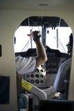 El panel de la carlinga del aeroplano Imágenes de archivo libres de regalías