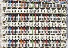 El panel de la centralita telefónica imagen de archivo libre de regalías