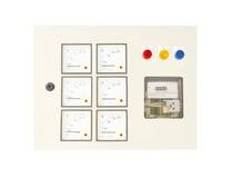 El panel de la energía eléctrica Foto de archivo