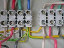 El panel de la fuente de energía eléctrica Foto de archivo
