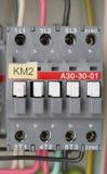El panel de la fuente de energía eléctrica Imágenes de archivo libres de regalías