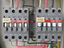 El panel de la fuente de energía eléctrica Fotografía de archivo