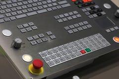 El panel de la operación del centro de mecanización del CNC Fotos de archivo