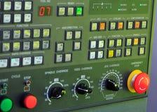 El panel de la operación del CNC Imagen de archivo libre de regalías