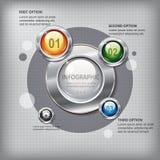 El panel de la presentación con los botones brillantes Imágenes de archivo libres de regalías