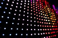 El panel de las luces LED Imágenes de archivo libres de regalías