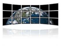 El panel de las TV Imagen de archivo libre de regalías