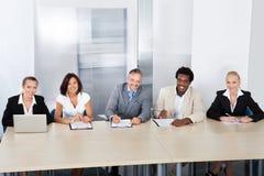 El panel de los oficiales de personales corporativos Fotografía de archivo
